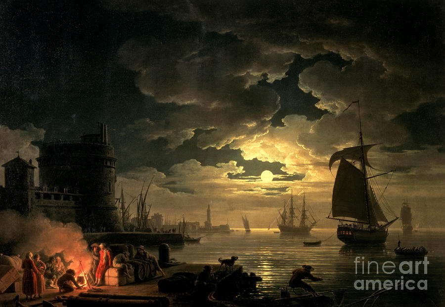 Boat Painting - The Harbor Of Palermo by Claude Joseph Vernet