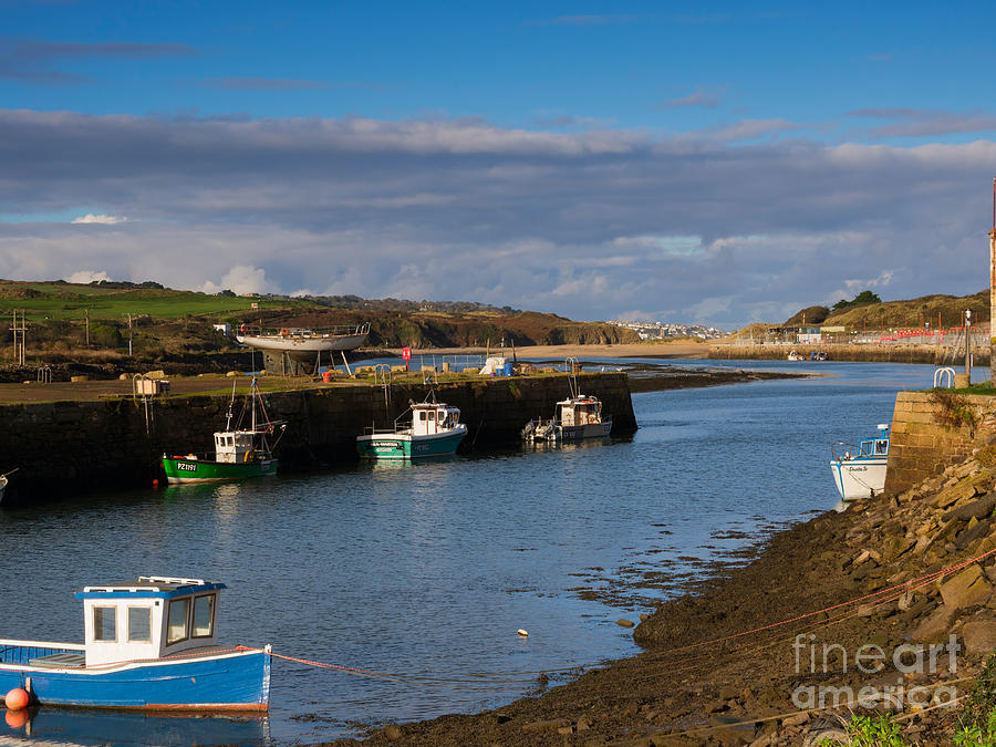 Hayle Photograph - The Harbour At Hayle Cornwall by Louise Heusinkveld