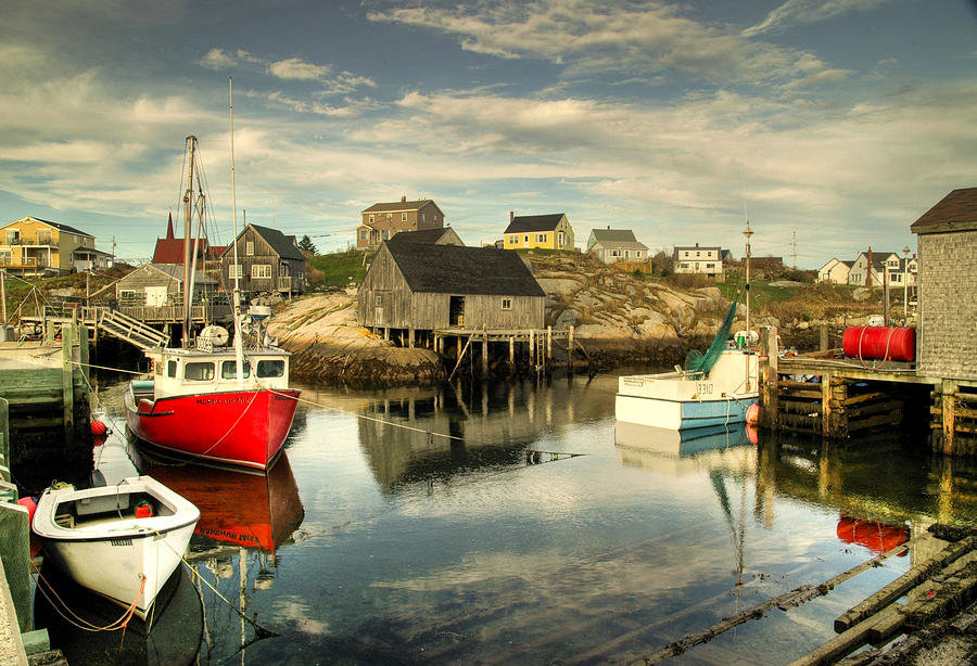 The Harbour at Peggys Cove by Rob Huntley