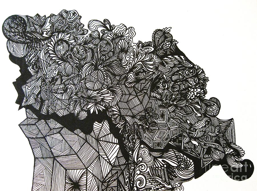 Geometric Drawing - The Harvest by Stephanie  Varner