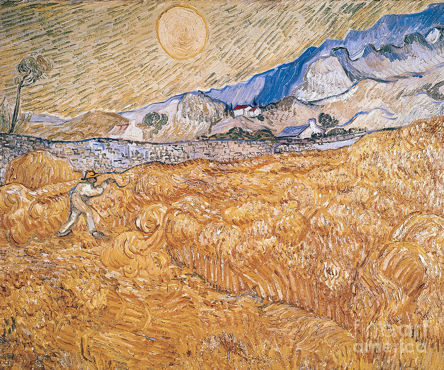 Sickle Painting - The Harvester by Vincent Van Gogh