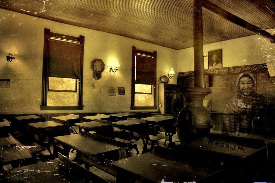 Haunted Photograph - The Haunted Classroom by Dan Sproul
