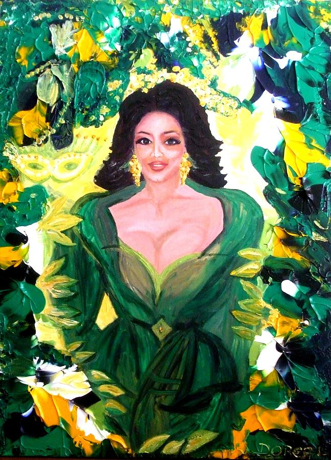 Tree Of Life Painting - The Hawaiian Queen by Carmen Doreal