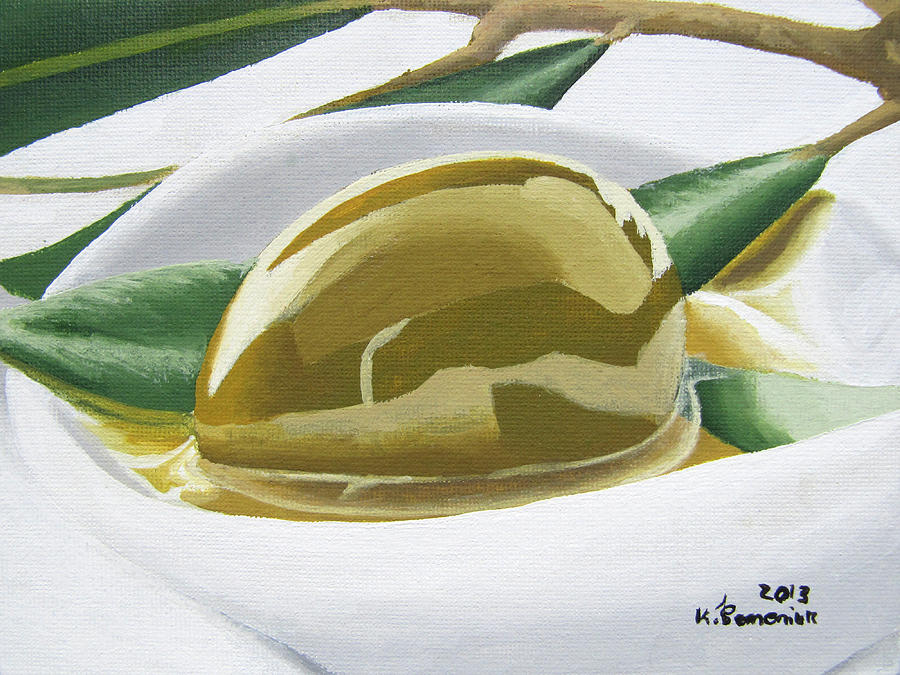 Olive Painting - The Heart Of Greece by Kayleigh Semeniuk