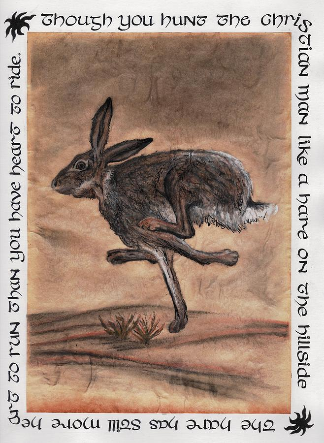 Hare Drawing - The Heart Of The Hare by Bryana Johnson