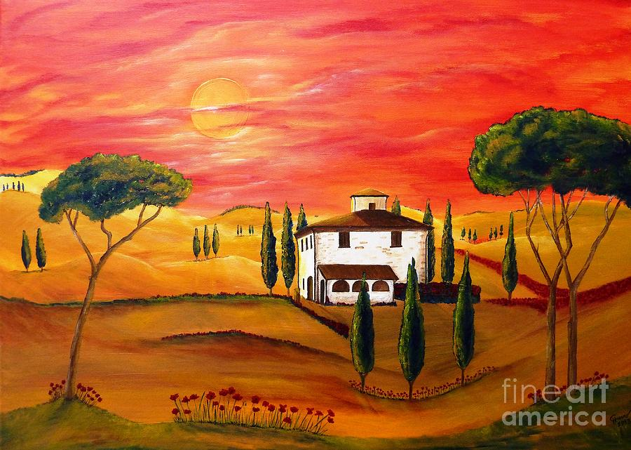 Tuscan Painting - The Heat Of Tuscany by Christine Huwer
