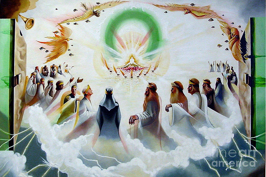 Throne Of God Painting - The Heavenly Throne by Peter Olsen