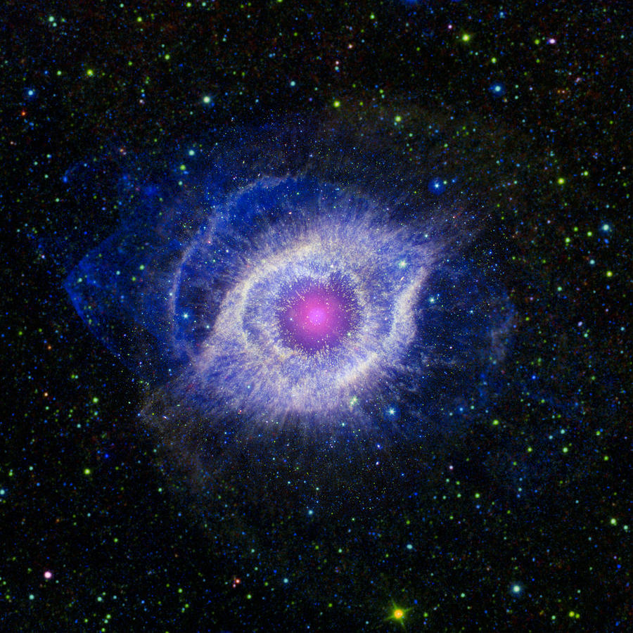 3scape Photos Photograph - The Helix Nebula by Adam Romanowicz