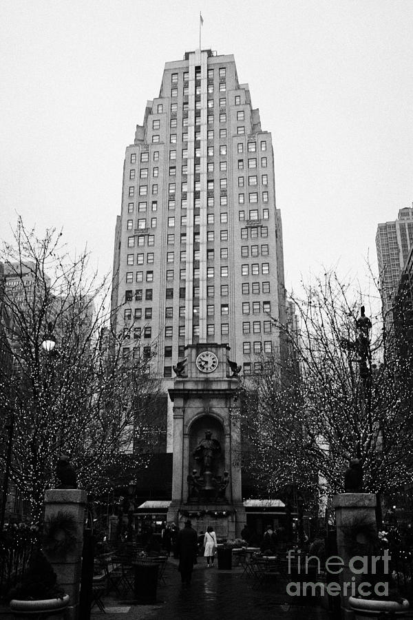 Usa Photograph - The Herald Square Building In The Rain Herald Square Broadway And 6th Avenue New York City Nyc by Joe Fox