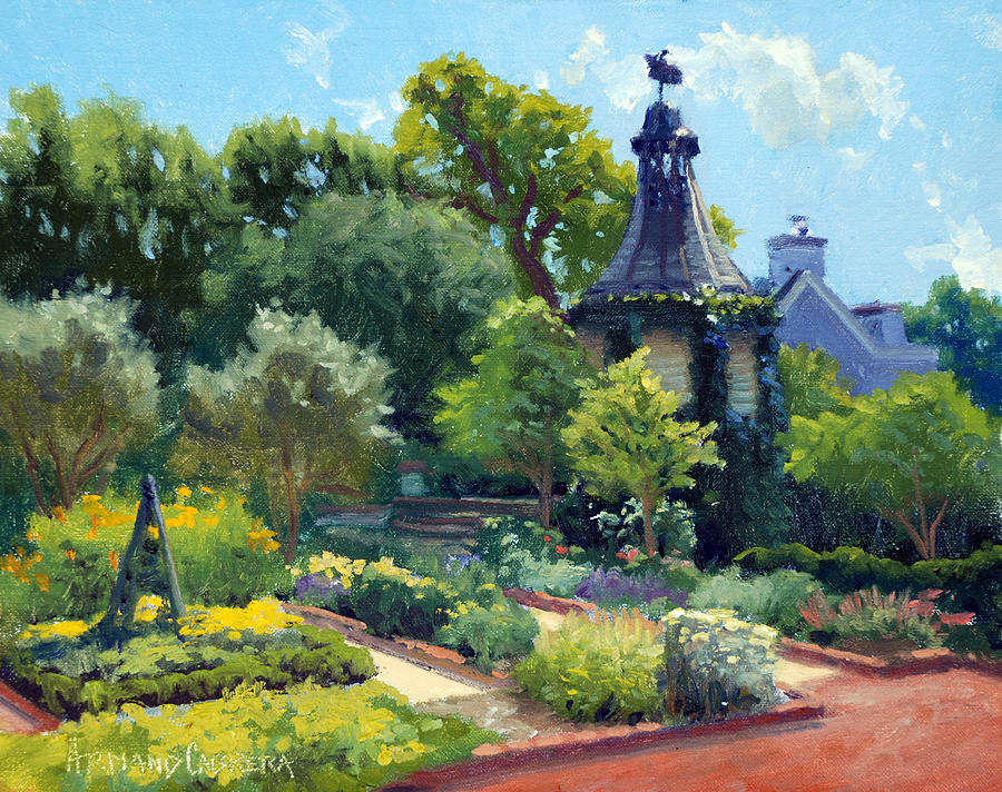 Inn At Little Washington Painting - The Herb Garden by Armand Cabrera