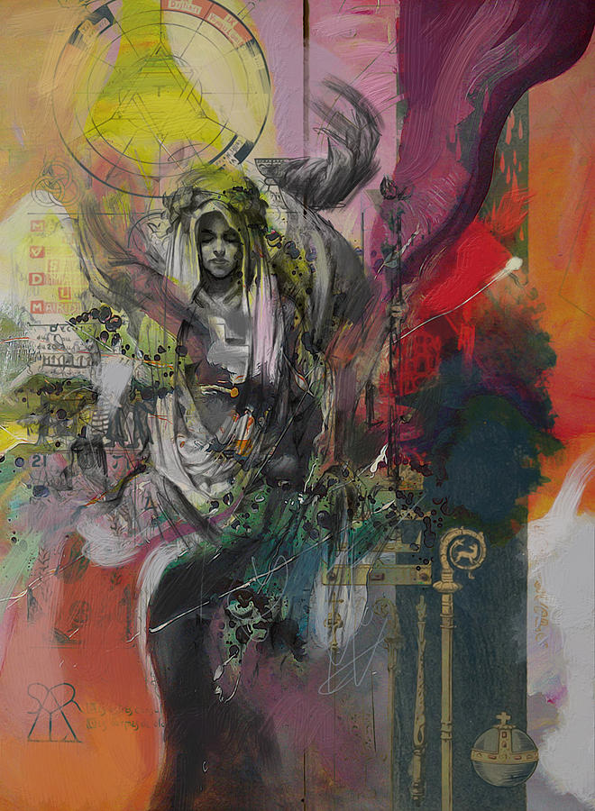 The High Priestess Painting - The High Priestess by Corporate Art Task Force