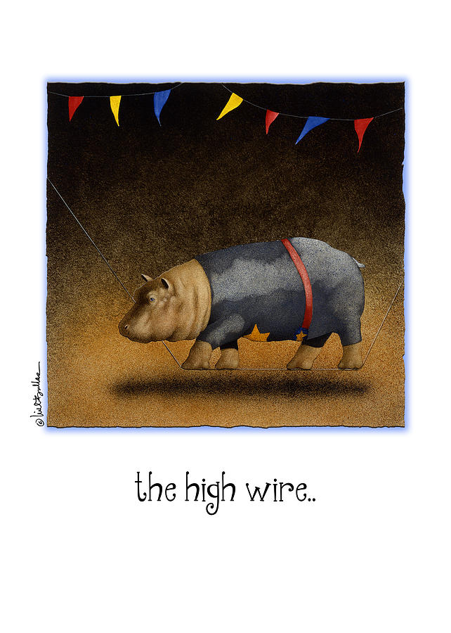 Will Bullas Painting - The High Wire... by Will Bullas