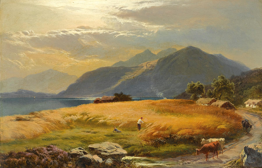 Sidney Richard Percy Painting - The Highland Loch by Sidney Richard Percy