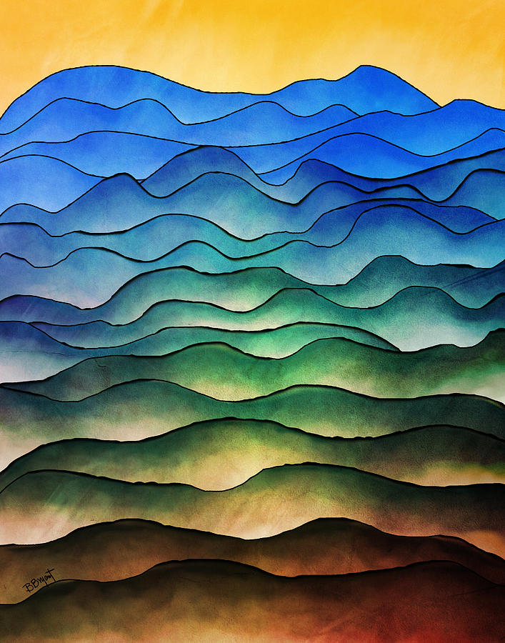 Hill Painting - The Hills Are Alive by Brenda Bryant