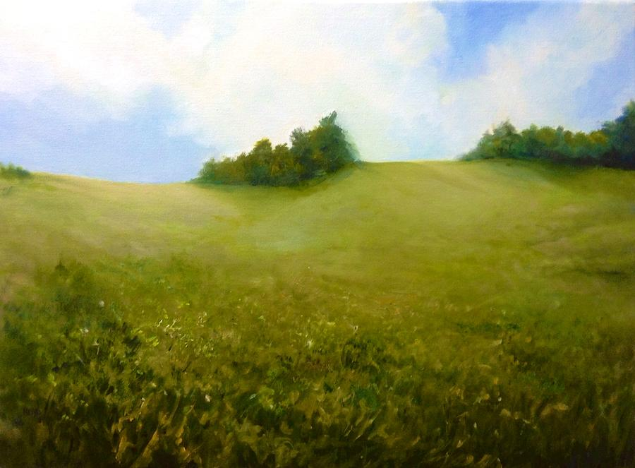 Landscape Painting - The Hills Are Alive by Cathy Boyd