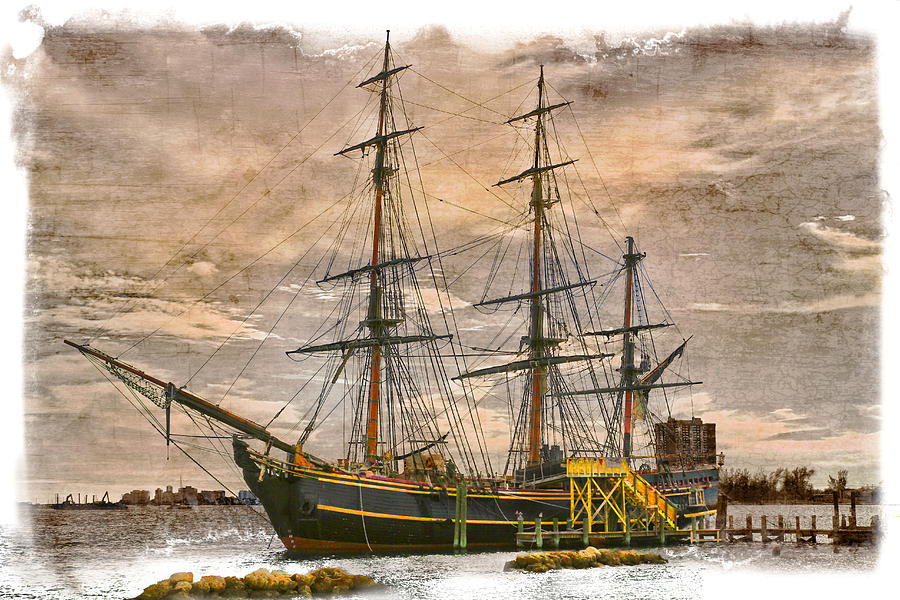 Boats Photograph - The Hms Bounty by Debra and Dave Vanderlaan