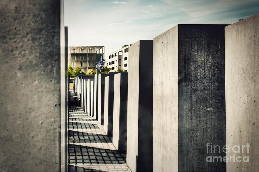 Berlin Photograph - The Holocaust Memorial Berlin Germany by Michal Bednarek