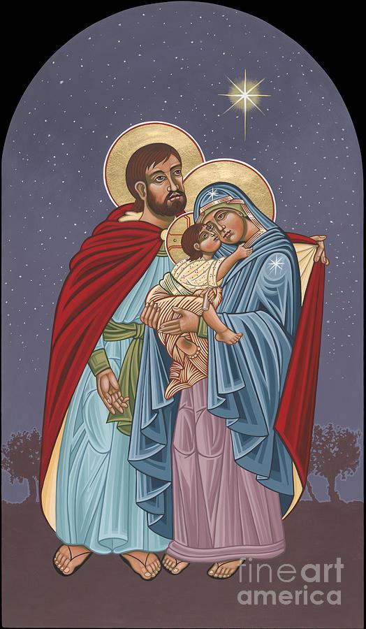 Bethlehem Painting - The Holy Family For The Holy Family Hospital Of Bethlehem by William Hart McNichols