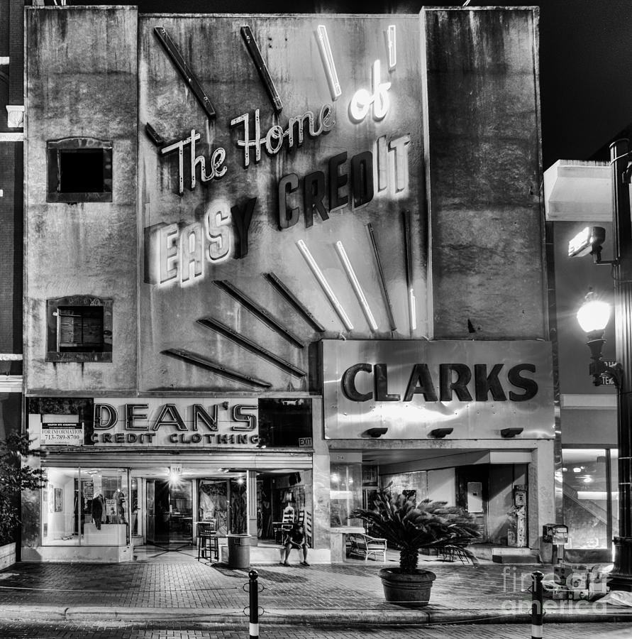 Clarks Photograph - The Home Of Easy Credit by Dee Zunker