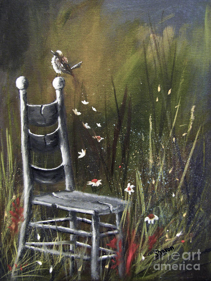 Chair Painting - The Homecoming by Sharon Burger