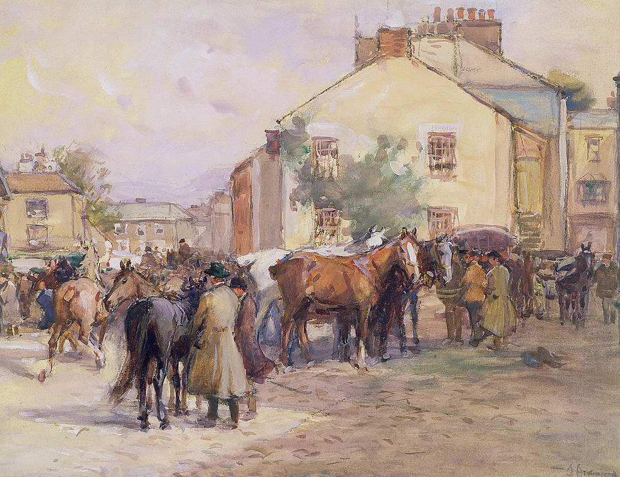 Horse Painting - The Horse Fair  by John Atkinson