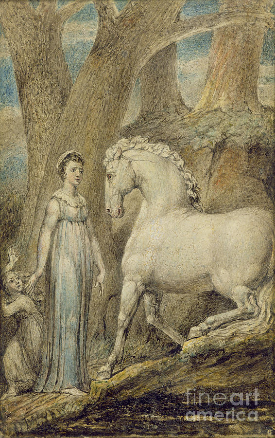 Woodland Painting - The Horse by William Blake