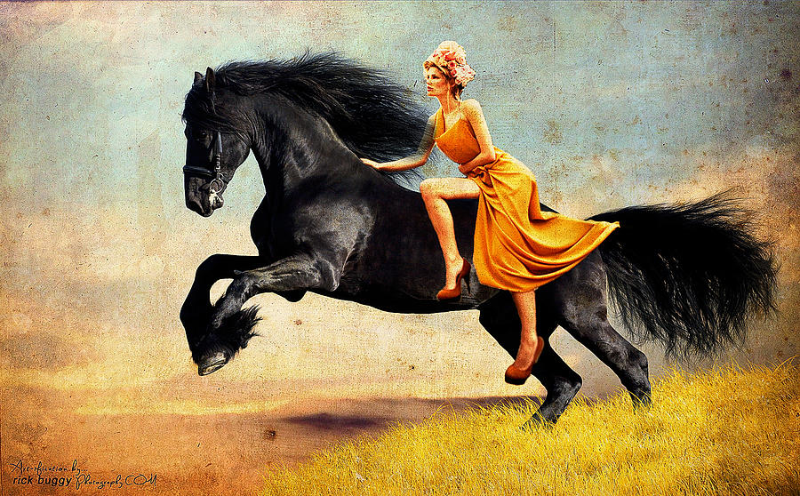 Horse Photograph - The Horsewoman by Rick Buggy