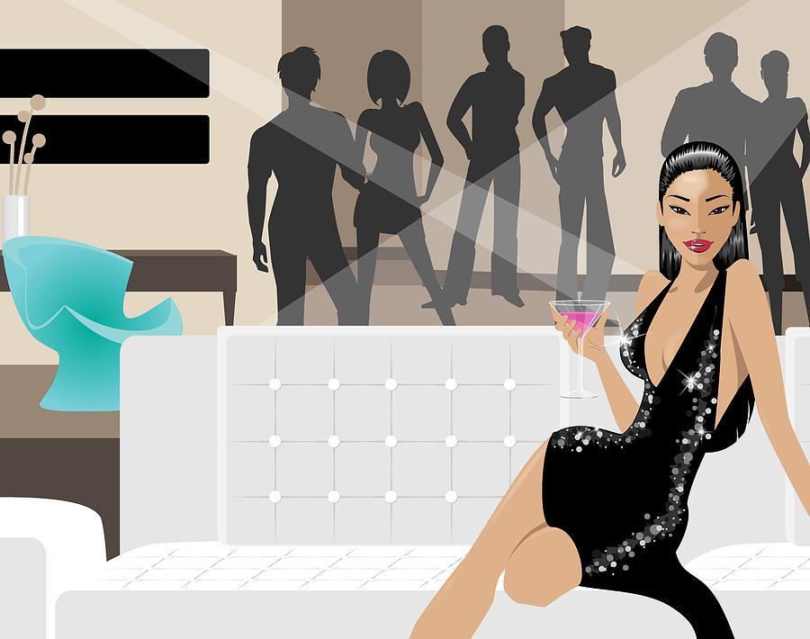 Party Digital Art - The Hostess by Amy De Wolfe