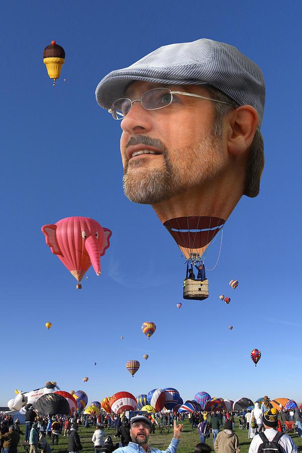 Hot Air Balloon Photograph - The Hot Air Surprise by Mike McGlothlen