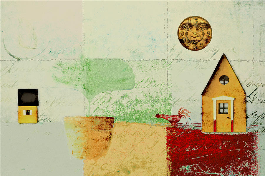 Houses Digital Art - The House Next Door - J191206097-c4f1 by Variance Collections
