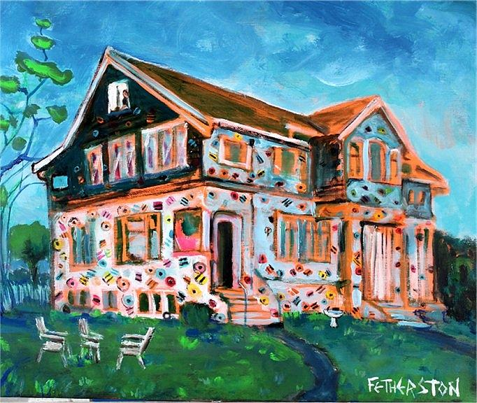The House of Allsorts Painting by Dominic Fetherston