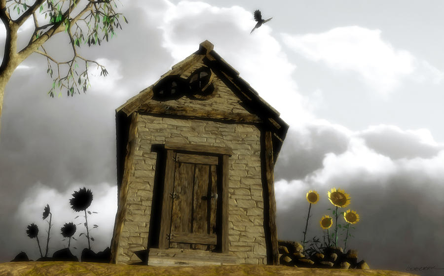 House Digital Art - The House Of Light And Shadow by Cynthia Decker