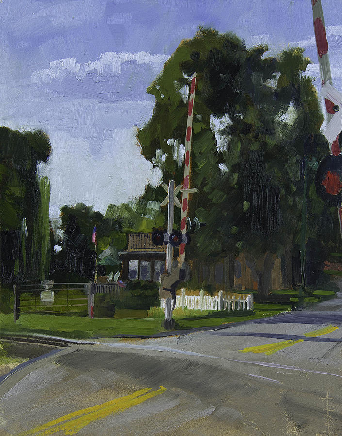 House Painting - The House Over The Tracks by Anthony Sell