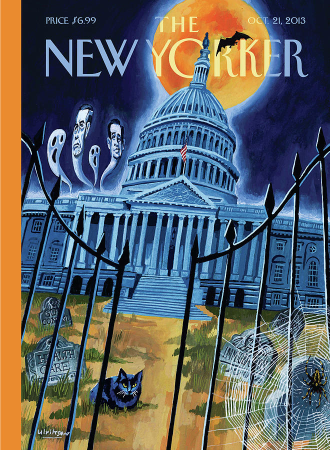 Ted Cruz Painting - The House Republicans Haunt The Captiol Building by Mark Ulriksen
