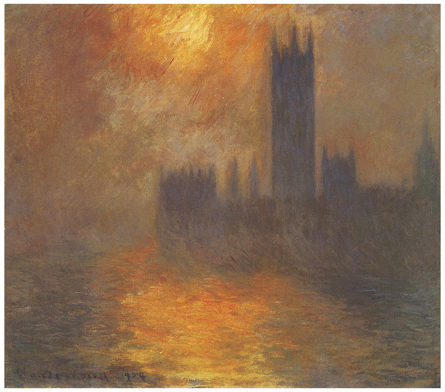 The Houses Of Parliament Sunset Painting - The Houses Of Parliament Sunset by Claude Monet