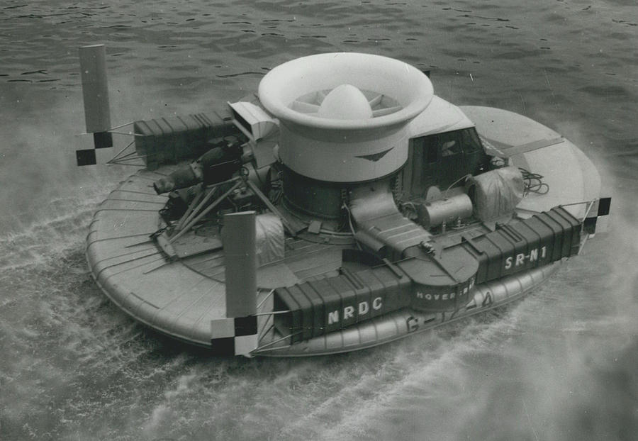 Retro Photograph - The �hovercraft� Shows Of Its Paces On The Thames by Retro Images Archive