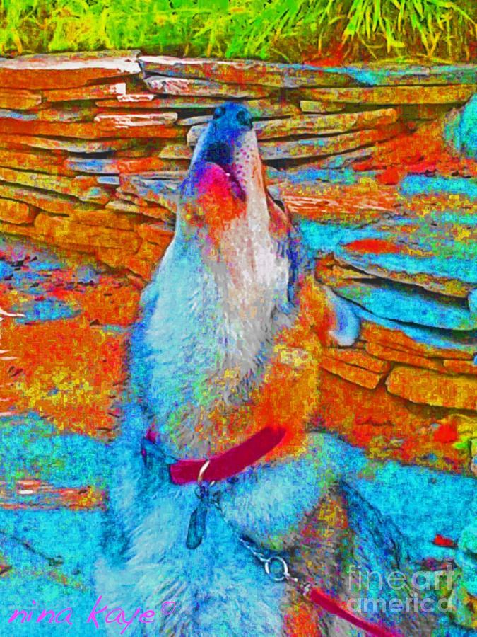 Digita Art Digital Art - The Howling # 4338 by Nina Kaye