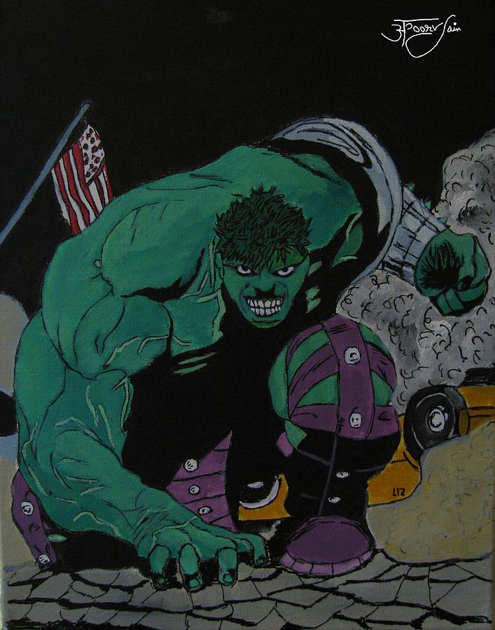 Hulk Painting - The Hulk by Apoorv Jain