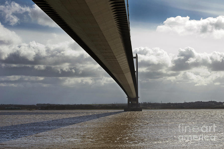 Humber Bridge Photograph - The Humber Bridge by Andrew Barke