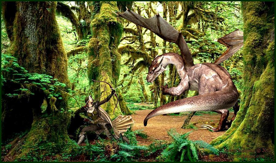 Fantasy Digital Art - The Huntress by Robert Marquiss