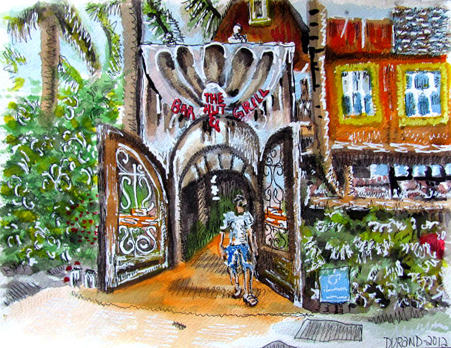 The Hut Bar And Grill At John S Pass Painting By Douglas Durand