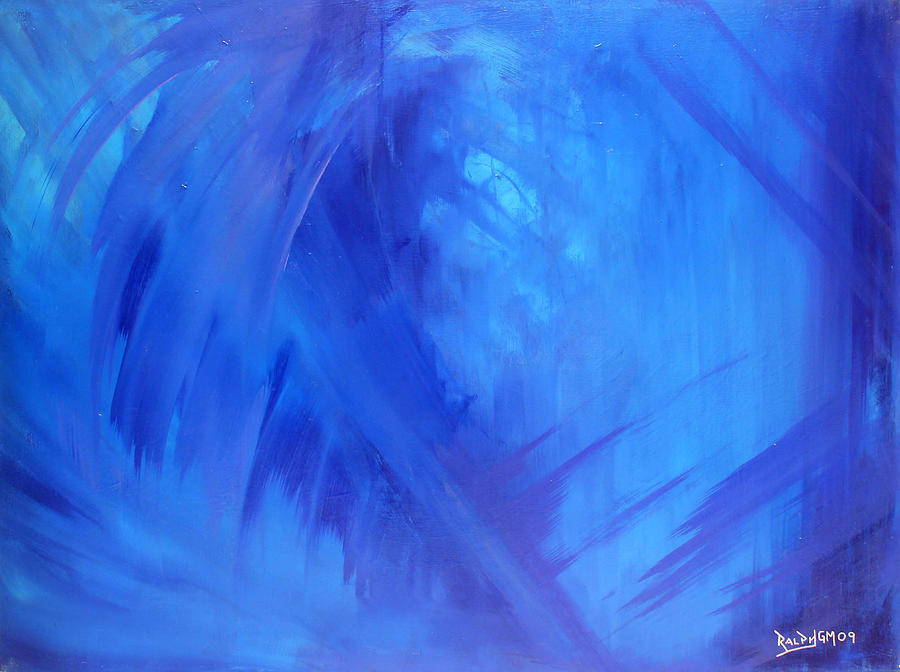 Blue Painting - The Hyperborean 2009 by RalphGM