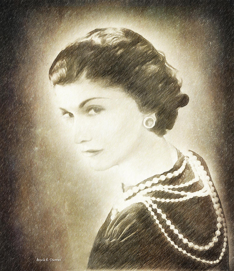 Chanel Painting - The Icon Of Elegance by Angela A Stanton