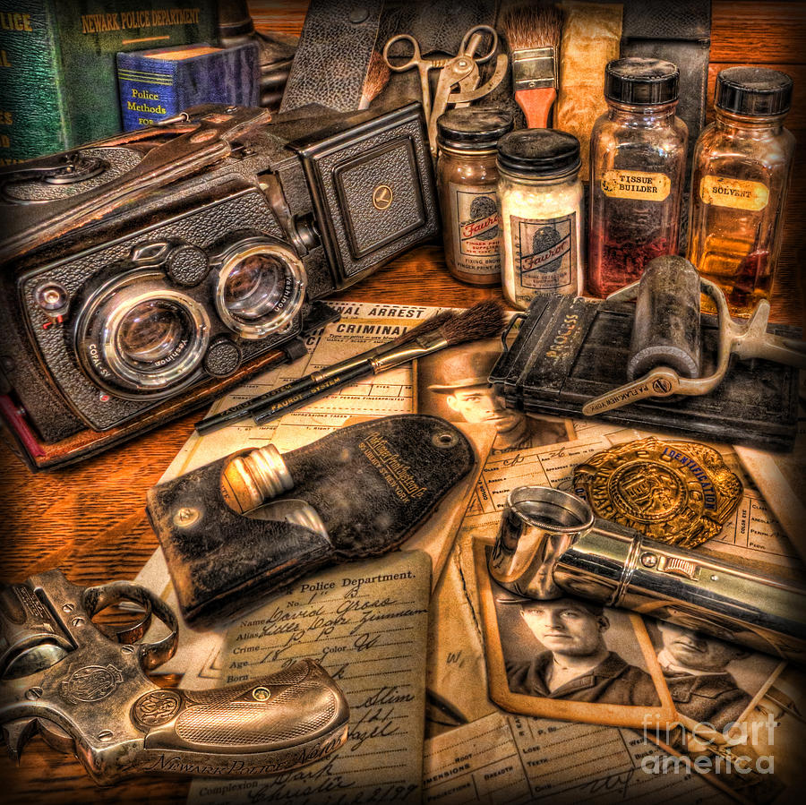 Identification Bureaucsi Photograph - The Identification Bureau - Police Officer by Lee Dos Santos