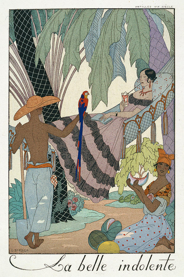 Lazy Painting - The Idle Beauty by Georges Barbier