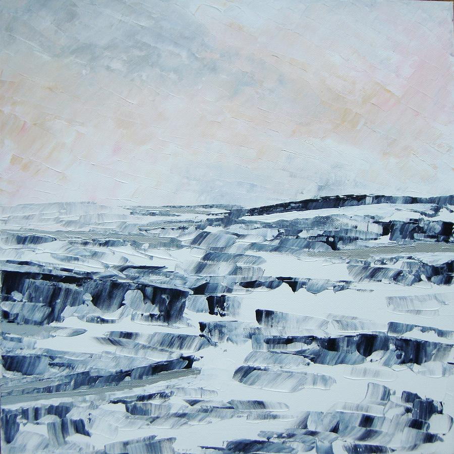 Abstract Painting - The Idle Rocks by Sally Kelly