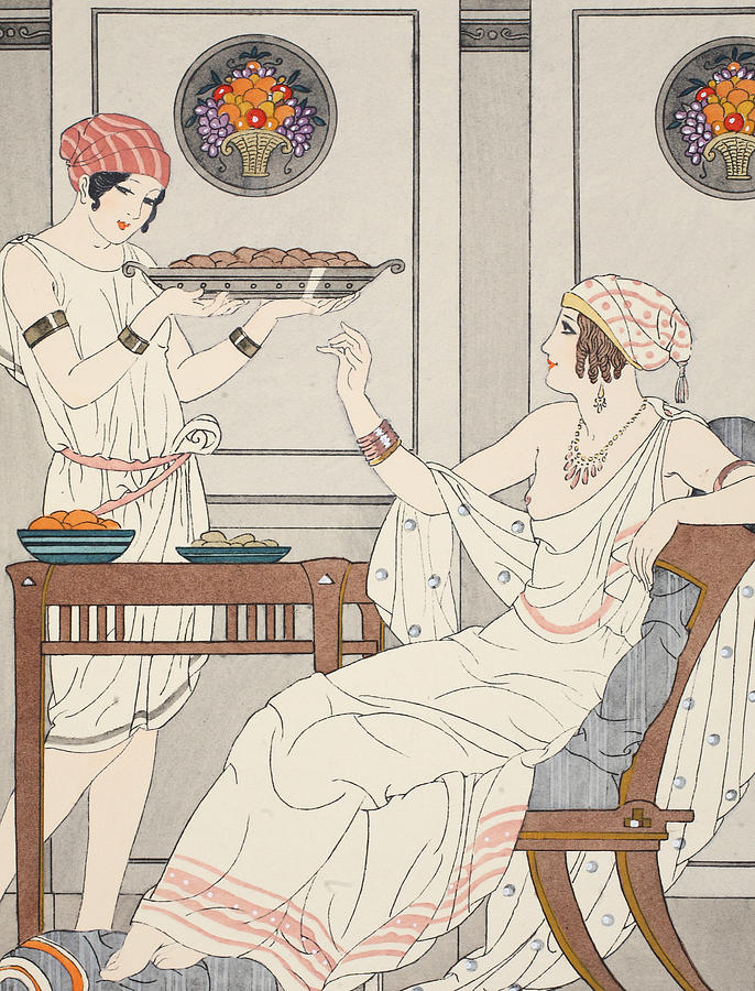 Greece Painting - The Immoderate Consumption Of Sesame Cakes And Sweets With Honey by Joseph Kuhn-Regnier