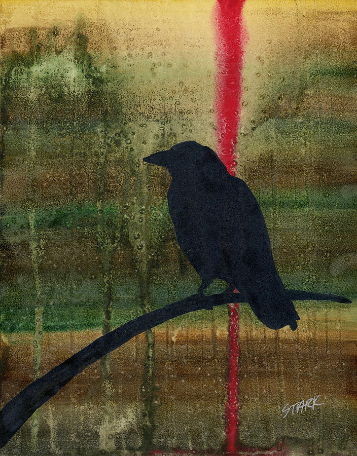 Abstract Painting - The Impossibility Of Crows by Jim Stark