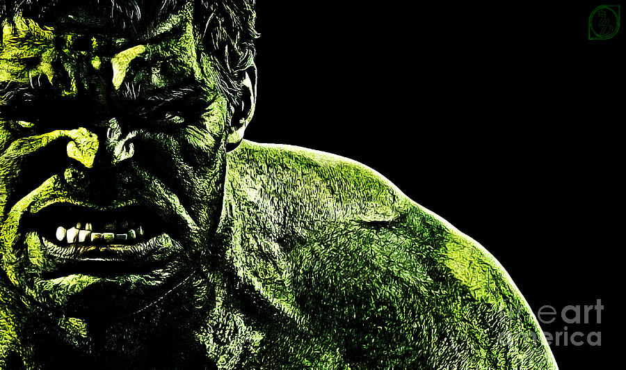 The Incredible Hulk Digital Art - The Incredible by The DigArtisT