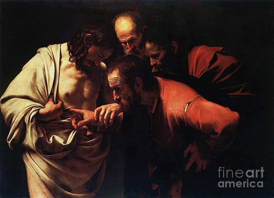 Pd Painting - The Incredulity Of Saint Thomas by Pg Reproductions
